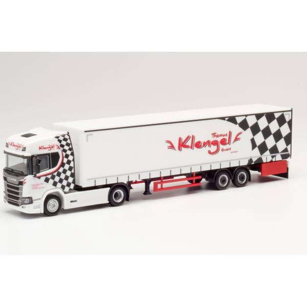 "940085 - Herpa - Scania CR 20 Highline Gardinenplanen-Sattelzug ""Klengel"""