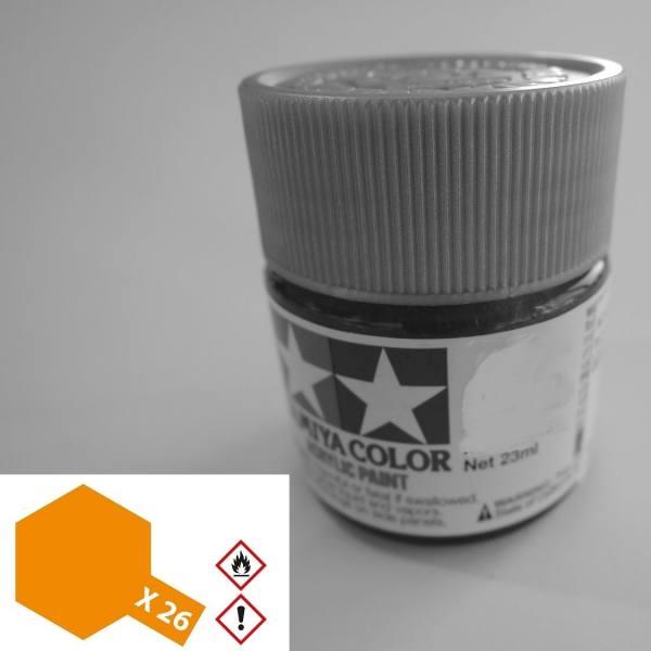 81026 - Tamiya - Acrylfarbe 23ml, klar-orange glänzend X-26