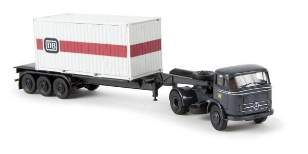 48012 - Brekina - Mercedes-Benz LPS 338 Sattelzug mit 20ft Container - DB -