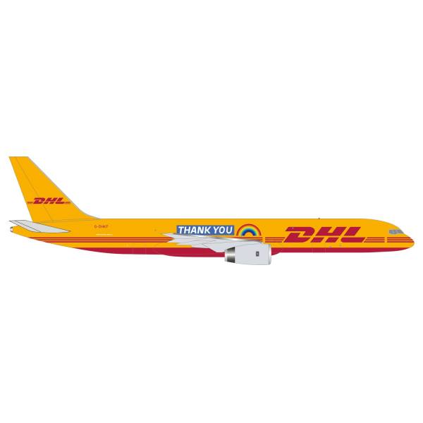 """535526 - Herpa Wings - DHL Air Boeing 757-200F """"Thank You"""""""