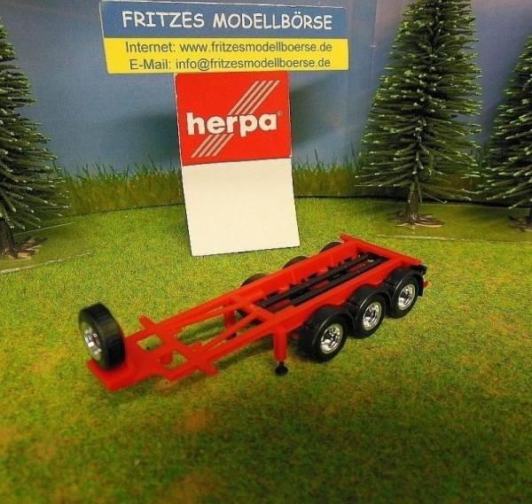 30365 - Herpa - 20ft. 3achs Tankcontainer-Auflieger, rot/schwarz