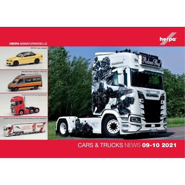 209243 - Herpa - Prospekt Neuheiten Cars & Trucks - Wings September / Oktober 2021