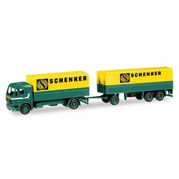 """308687 - Herpa - Mercedes-Benz NG 80 Planen-Anhängerzug """"Schenker"""""""