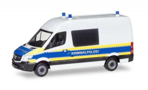 "929806 - Herpa - Mercedes-Benz Sprinter`13 Halbbus Tatortwagen ""Kriminalpolizei"""