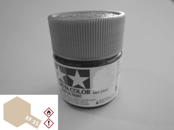 81355 - Tamiya - Acrylfarbe 23ml, Deck Tan (hellbraun) matt XF-55