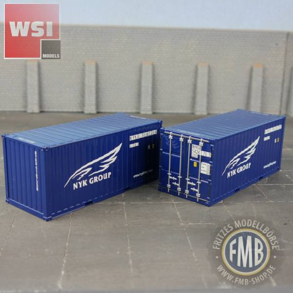 04-1124 - WSI - 2x 20ft. Container -NYK Group - NL -