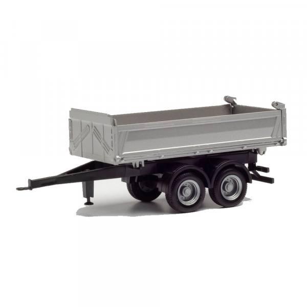 076975 - Herpa - 2achs Meiller Tandem-Baukipper-Anhänger, silber