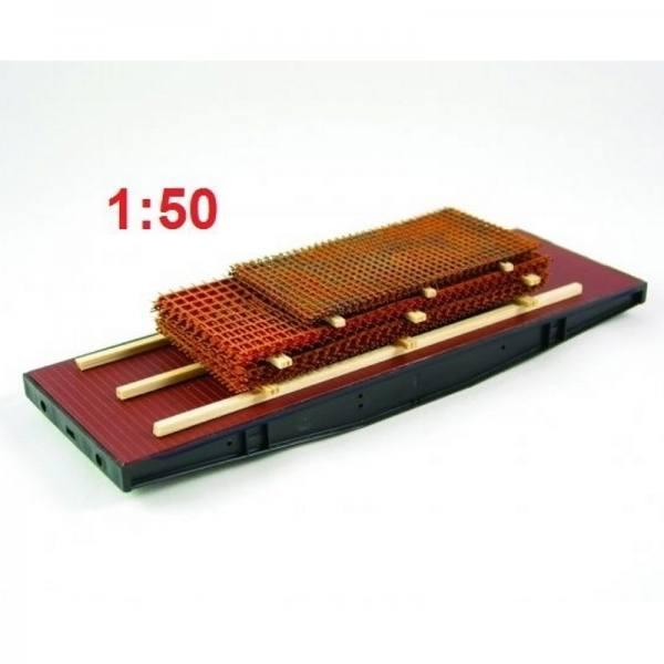 01004 - Ladegüter Bauer - Baustahlmatten mit Holzbalken - Länge 170mm