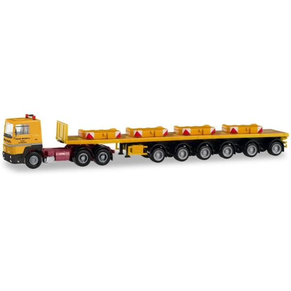 """311434 - Herpa - Renault R 360 6x4 Ballasttrailer-Sattelzug mit 4 Gewichten """"Franz Bracht"""""""