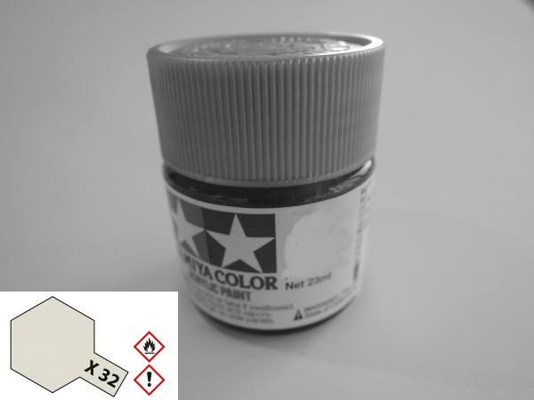 81032 - Tamiya - Acrylfarbe 23ml, titanium silber glänzend X-32