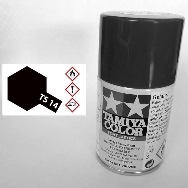 85014 - Tamiya - schwarz glänzend 100ml , Sprühdose TS-14