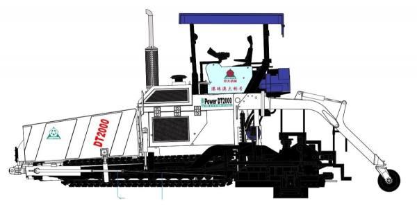 61-2005 -WSI - Deckenfertiger Jointark Power DT 2000 Paver - blau/weiß - 1:32