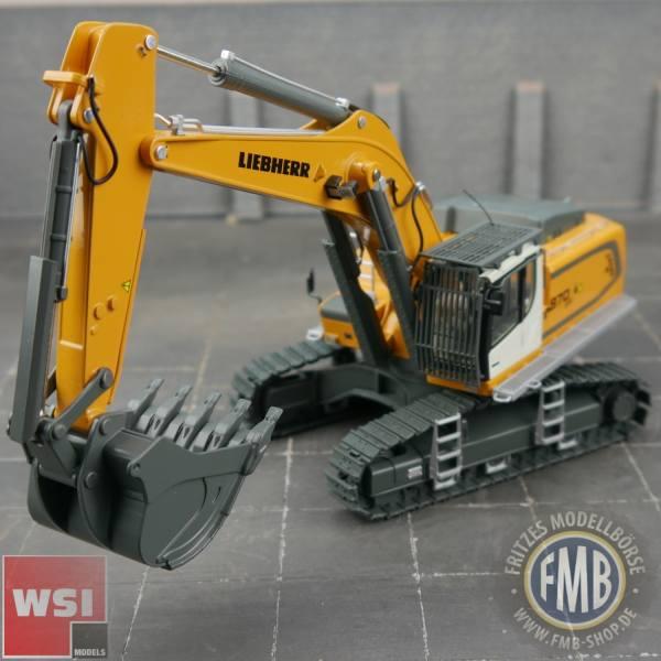 64-2002 - WSI - Liebherr R 970 SME Raupenbagger mit Tieflöffel, gelb