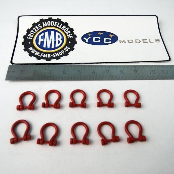 YC639-1 - YCC Models - Schäkel 150-200 t, rot - Set 10 Stück