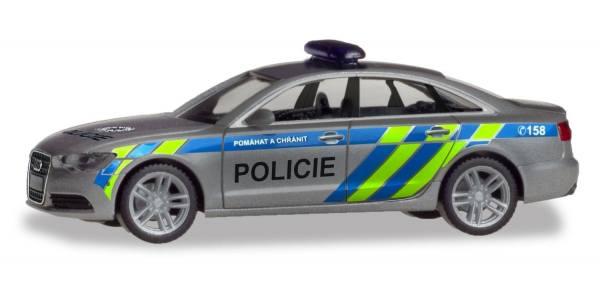 """094429 - Herpa - Audi A6 Funkstreifenwagen """"Polizei Prag"""" CZ"""