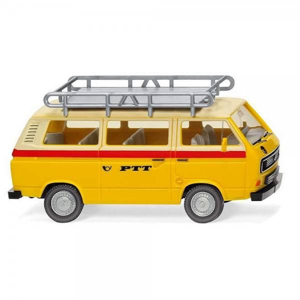 "029201 - Wiking - VW T3 Bus mit Dachträger ""PTT"" CH"
