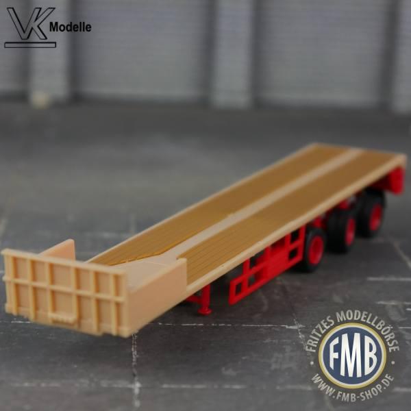 02381 - VK Modelle - Ballastauflieger 3achs - ES-GE - beige/rot