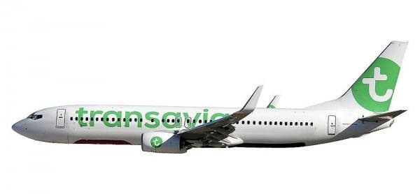"611046 - Herpa - Transavia   Boeing 737-800 ""new colors"" - 1:200"