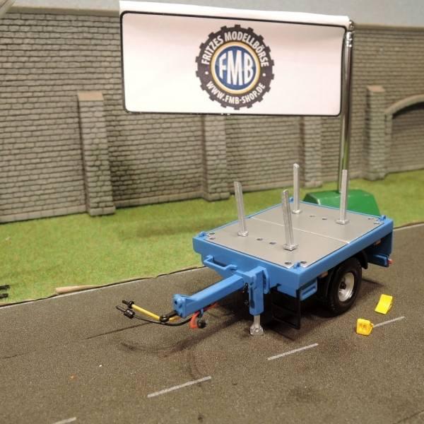 1007016 - Himobo - 1achs Ballastanhänger , blau - RAL5015