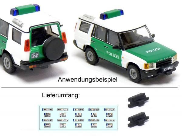 90090 - Mickon - Seilwinde mit Kennzeichen Decals, passend für Land Rover Discovery - 2 Stück