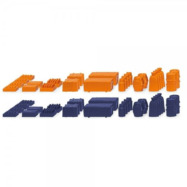 001820 - Wiking - Zubehörpackung - Ladegut II - orange / blau