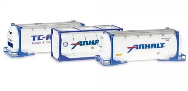 "076500-004 - Herpa - Set 3x 20ft Tankcontainer ""Anhalt"""