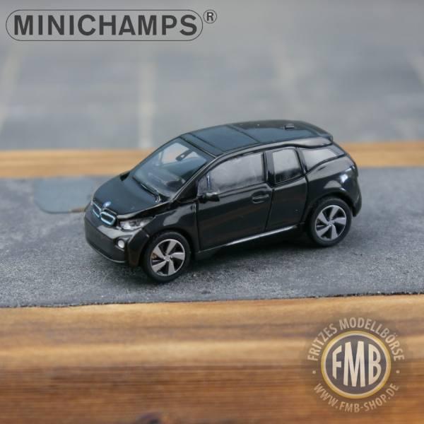 028101 - Minichamps - BMW i3 (2014) E-Mobility, grauschwarz metallic