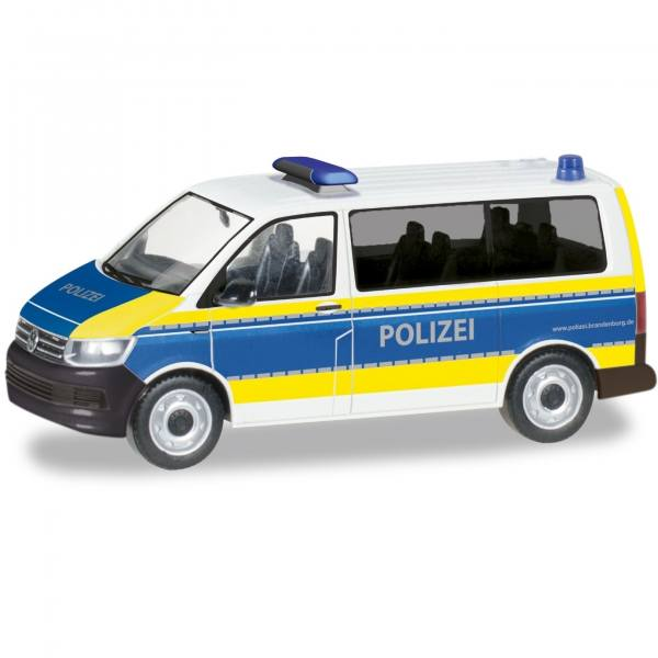 """094672 - Herpa - VW T6 Bus Funkstreifenwagen """"Polizei Brandenburg"""""""