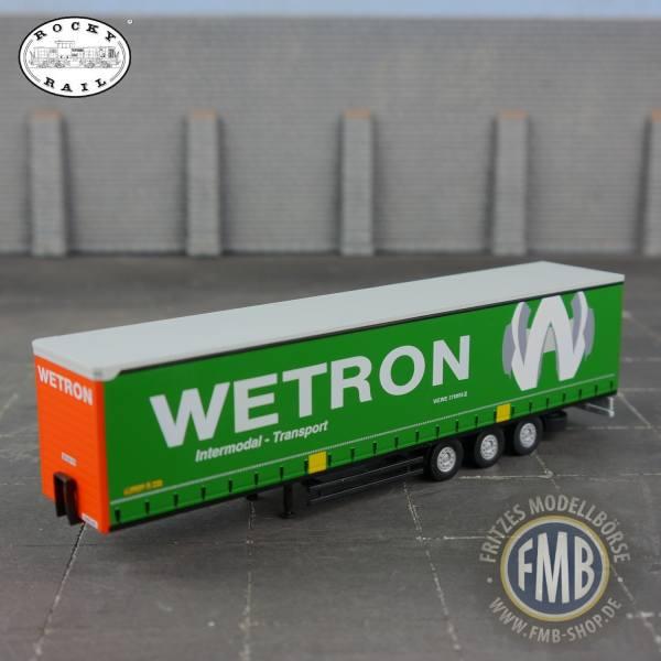 """103291 - Rocky-Rail - Gardinenplanen-Auflieger, 3achsig """"Wetron - Nr. 376000-2"""" NL"""