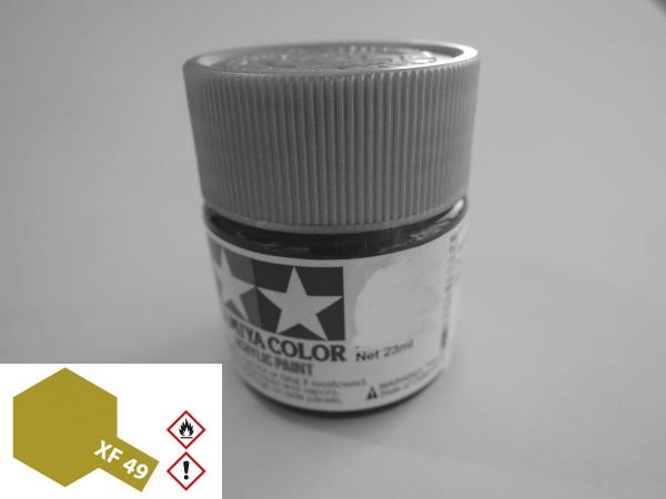 81349 - Tamiya - Acrylfarbe 23ml, khaki matt XF-49