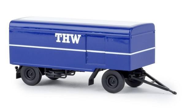 """55290 - Brekina - Paketanhänger, 2achsig """"THW"""""""