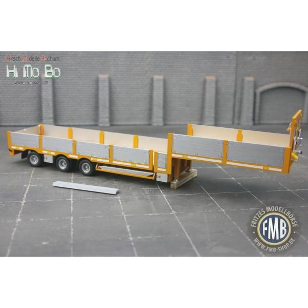 1007024G - Himobo - norwegischer 3achs Tele-Auflieger - gelb