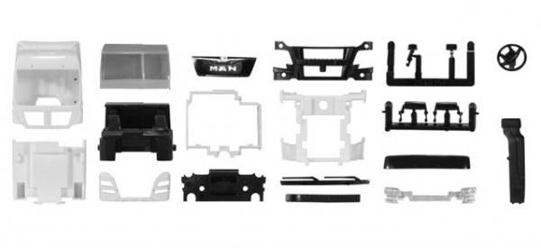 083898 - Herpa - TS MAN TGX XXL Euro6 Kabine mit WLB, weiß -2 Stück