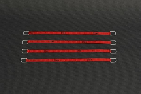 YC335-2 - YCC - Anschlaggurte, rot -12cm- 5 Tonnen Version -4 Stück