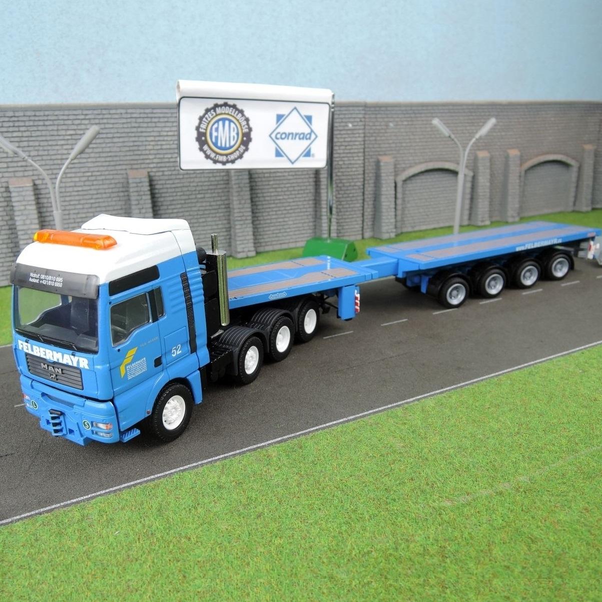 66139/0 - Conrad - MAN TGA Nooteboom teletrailer -Felbermayr-