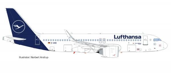 "559768 - Herpa - Lufthansa  Airbus A320neo - new colors - ""Rastatt"""