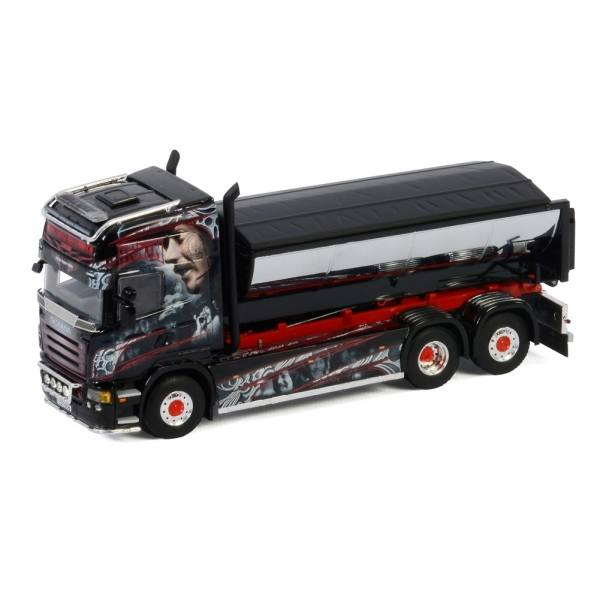 01-3120 - WSI - Scania R5 TL 6x2 mit Hakensystem und Asphalt Container - Kuismanen - FIN -