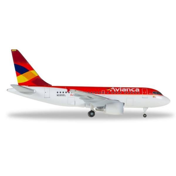 """530088 - Herpa - Avianca Airbus A318 """"N595EL"""""""