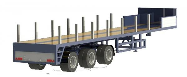 02382 - VK Modelle - Ballastauflieger 3achs - ES-GE - Wasel