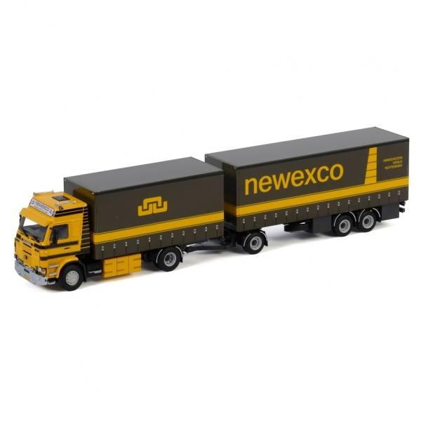 01-3013 - WSI -  Scania 3serie mit 3achs Anhänger/Planenzug - Newexco - NL -