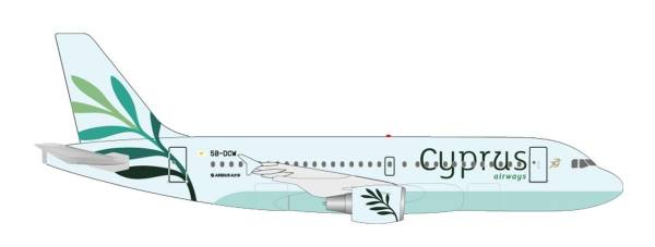 "531757 - Herpa - Cyprus Airways  Airbus A319 ""5B-DCW"" - 1:500"