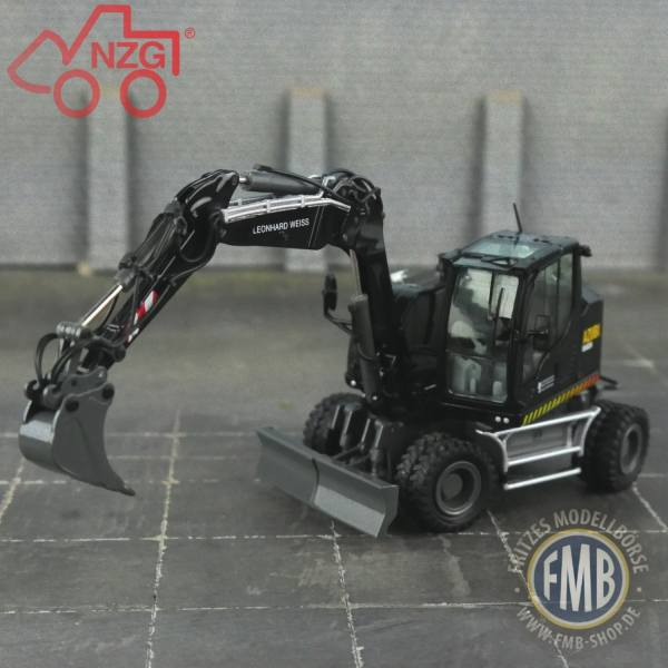 48094 - B-Ware - NZG - Liebherr A 912 Compact Mobilbagger - Leonhard Weiss / Azubi Bagger