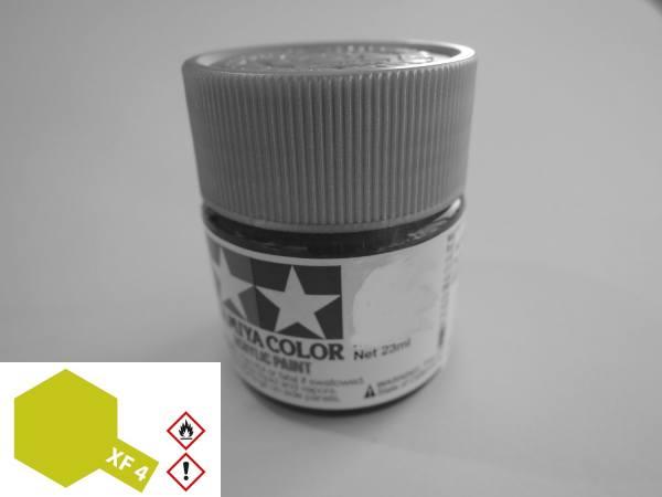 81304 - Tamiya - Acrylfarbe 23ml, gelb-grün matt XF-4