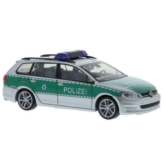 """53308 - Rietze - VW Golf VII Variant Funkstreifenwagen """"Polizei Bayern / Nürnberg"""", silber/grün"""