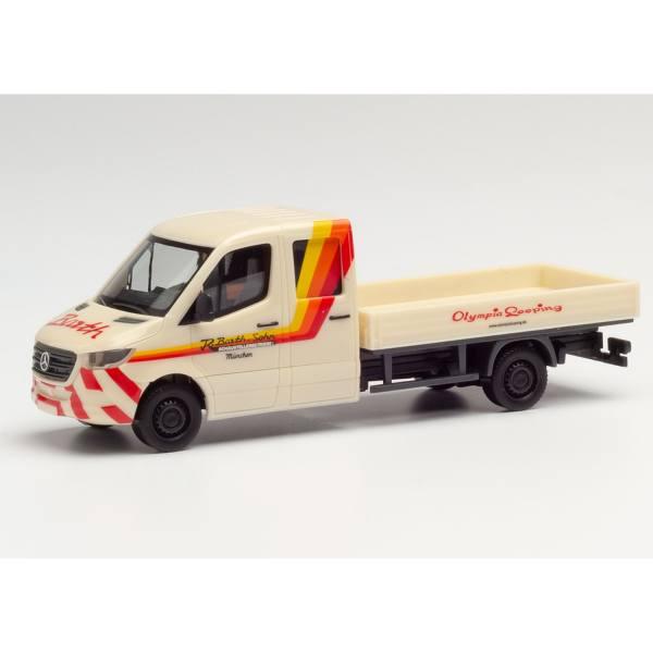 """095204 - Herpa - Mercedes-Benz Sprinter `18 DoKa Pritsche """"Barth"""""""