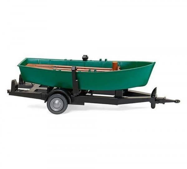 009401 - Wiking - Ruderboot auf Anhänger, türkisgrün