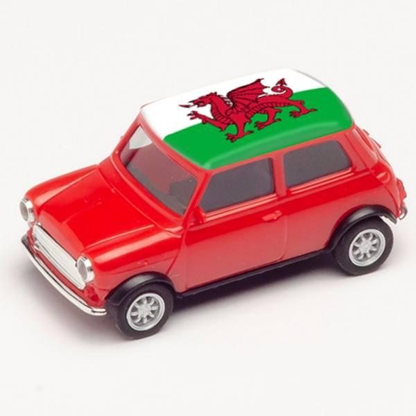 "420785 - Herpa - Mini Cooper, rot ""EM 2021 - Wales"""