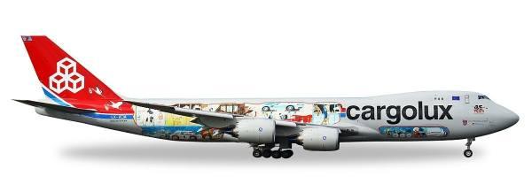 "529716 - Herpa - Cargolux Boeing 747-8F ""45th-Anniversary"""