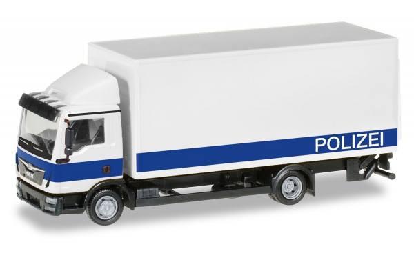 """094504 - Herpa - MAN TGL Koffer-LKW mit Ladebordwand """"Polizei Brandenburg / Logistik"""""""