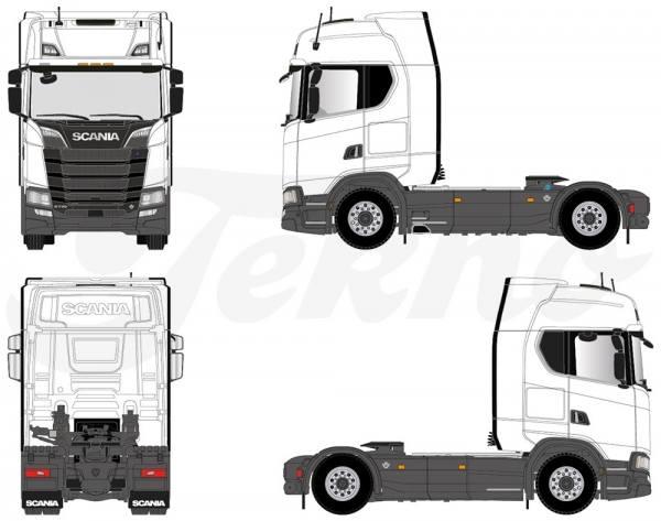 70628 - Tekno -T.B. Scania S-serie HL 4x2 2achs Zugmaschine schlafkabine (LHD)